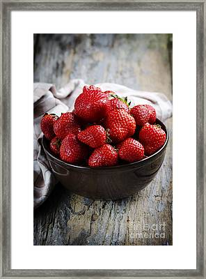 Strawberries Framed Print by Jelena Jovanovic