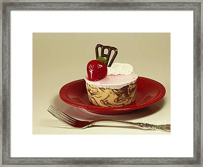 Strawberry Chocolate Marble Torte Supreme Framed Print by Inspired Nature Photography Fine Art Photography
