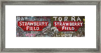 Strawberry Fields Forever Framed Print by Semmick Photo