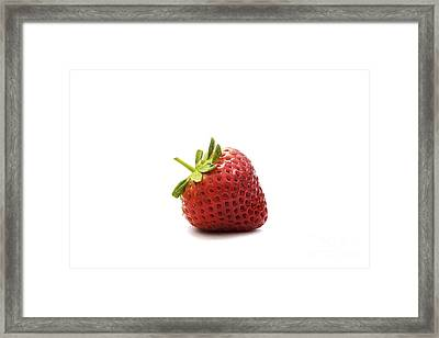 Strawberry II Framed Print by Natalie Kinnear