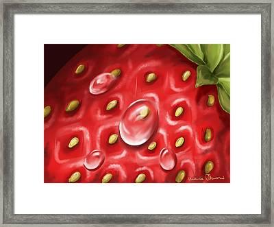 Strawberry Framed Print by Veronica Minozzi