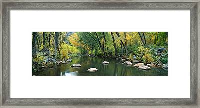 Stream Cottonwood Canyon Az Framed Print by Panoramic Images