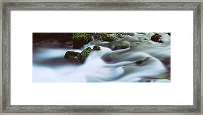 Stream Flowing Through Rocks, Alley Framed Print by Panoramic Images