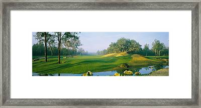 Stream On A Golf Course, Haile Framed Print by Panoramic Images
