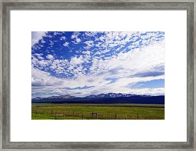 Streaming Sky Framed Print by Jeremy Rhoades