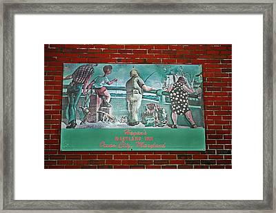 Street Ad Framed Print by Skip Willits