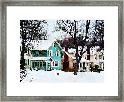 Street After Snow Framed Print by Susan Savad