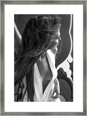 Street Art 9 Framed Print by Blue Muse Fine Art