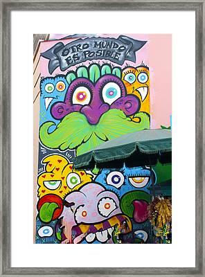 Street Art Lima Peru 2 Framed Print by Kurt Van Wagner