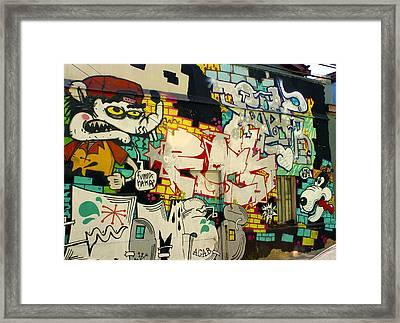 Street Art Valparaiso Chile 6 Framed Print by Kurt Van Wagner