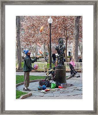 Street Artist 2013 Framed Print by Glenn McCurdy
