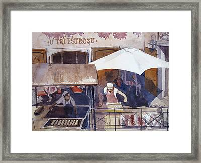Street Chef Framed Print by Kris Parins