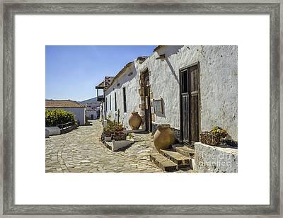 Street In Betancuria Fuerteventura Spain Framed Print by Patricia Hofmeester