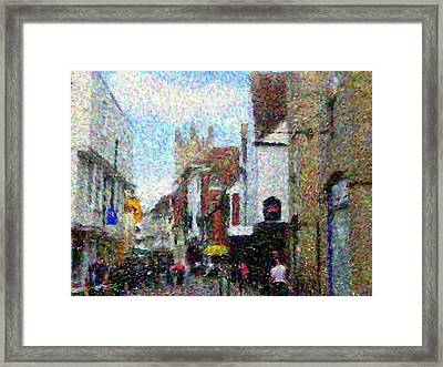 Street In Canterbury Framed Print by Grace Renshaw