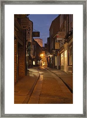 Street In Cork - England Framed Print by Mike McGlothlen