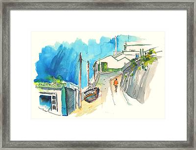 Street In Ericeira In Portugal Framed Print by Miki De Goodaboom