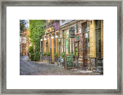 Street In Ghent Framed Print by Juli Scalzi
