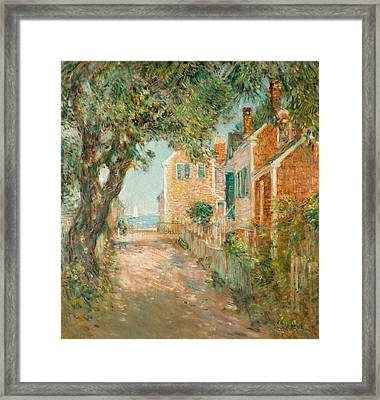 Street In Provincetown Framed Print by  Childe Hassam