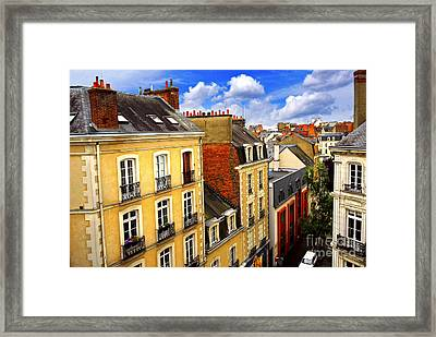 Street In Rennes Framed Print by Elena Elisseeva