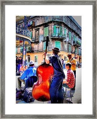 Street Jammin Framed Print by Robert McCubbin