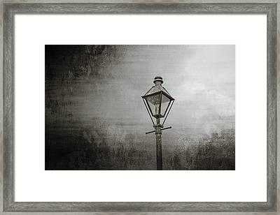 Street Lamp On The River Framed Print by Brenda Bryant
