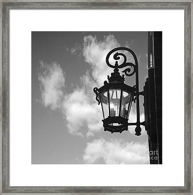 Street Lamp Framed Print by Tony Cordoza