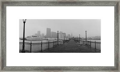 Street Lamps On A Bridge, San Framed Print by Panoramic Images
