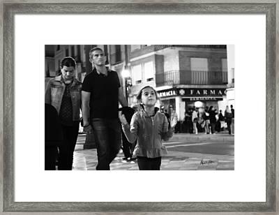 Street Life In Granada - Spain Framed Print by Madeline Ellis
