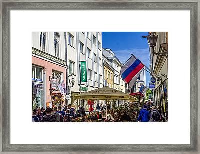 Street Life - Tallin Estonia  Framed Print by Jon Berghoff