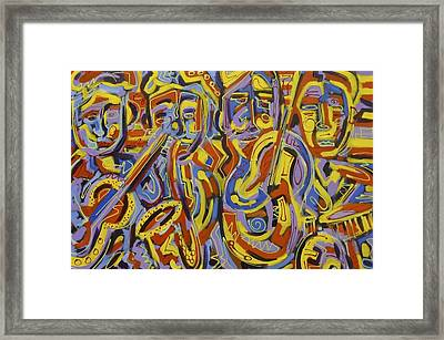Street Music Framed Print by Isaac Rudansky