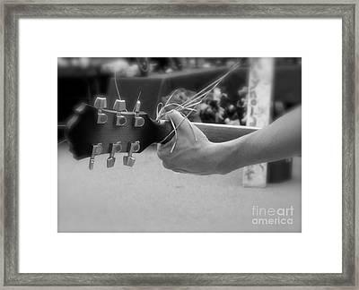 Street Musician Framed Print by Skip Willits