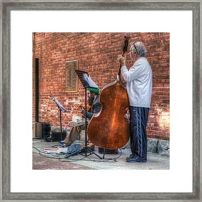 Street Musicians - Great Barrington - No. 2 Framed Print by Geoffrey Coelho