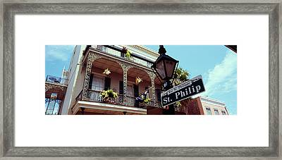 Street Name Signboard On A Lamppost Framed Print by Panoramic Images