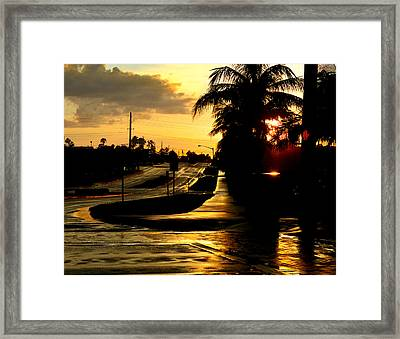 Street Of Dreams Framed Print by Laura Fasulo