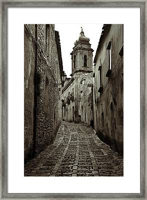 Street Of Erice Framed Print by RicardMN Photography