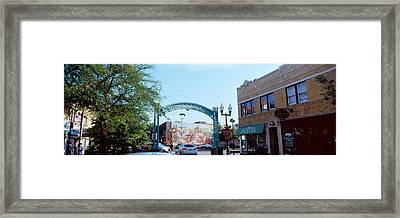 Street Scene, Lincoln Square, Chicago Framed Print by Panoramic Images