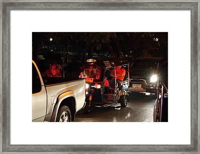 Street Scene - Night Street Market - Chiang Mai Thailand - 01131 Framed Print by DC Photographer