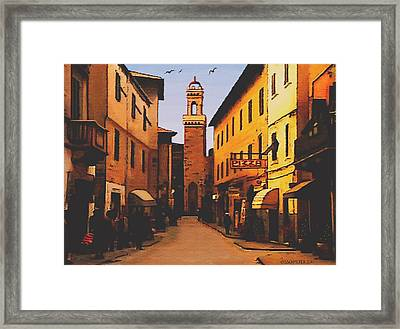 Street Scene Framed Print by SophiaArt Gallery