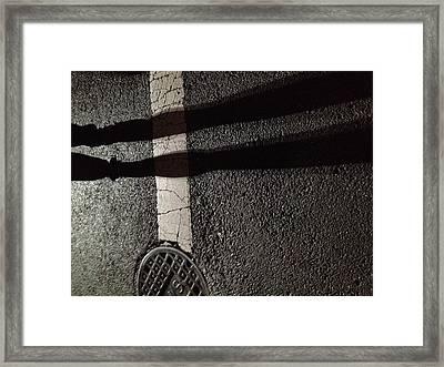 Street Shadow Framed Print by H James Hoff