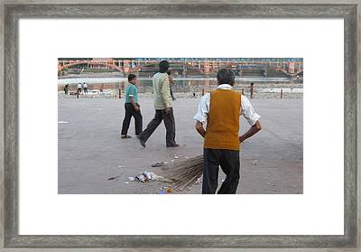 Street Sweep Framed Print by Russell Smidt