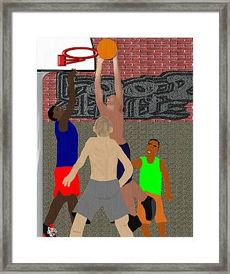 Streetball Shirts And Skins Hoopz 4 Life Framed Print by Pharris Art