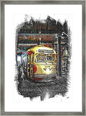Pittsburgh Streetcar 1724 Framed Print by Spencer McKain