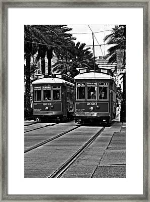 Streetcars New Orleans Framed Print by Christine Till