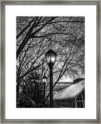 Streetlamp Brooklyn Framed Print by H James Hoff