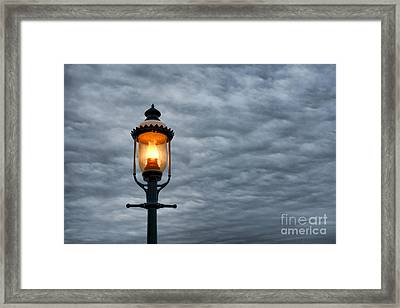Streetlight Framed Print by Olivier Le Queinec