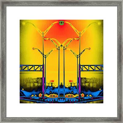 Streetlight Serenade 4 Framed Print by Wendy J St Christopher