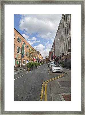 Streets Dublin Ireland Framed Print by Betsy Knapp
