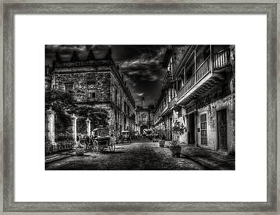 Streets Of Havana Bw Framed Print by Erik Brede