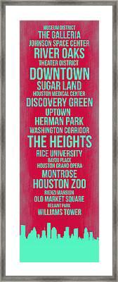 Streets Of Houston 2 Framed Print by Naxart Studio