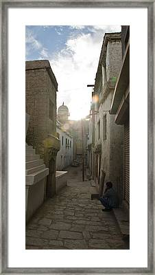 Streets Of Leh Framed Print by Aaron S Bedell